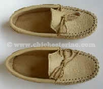 Buffalo Hide Moccasins